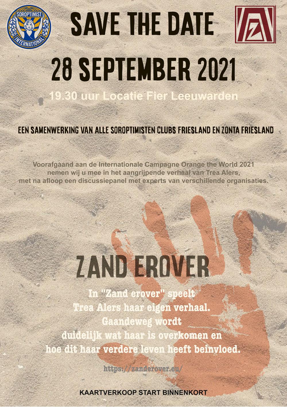 Poster Zand erover